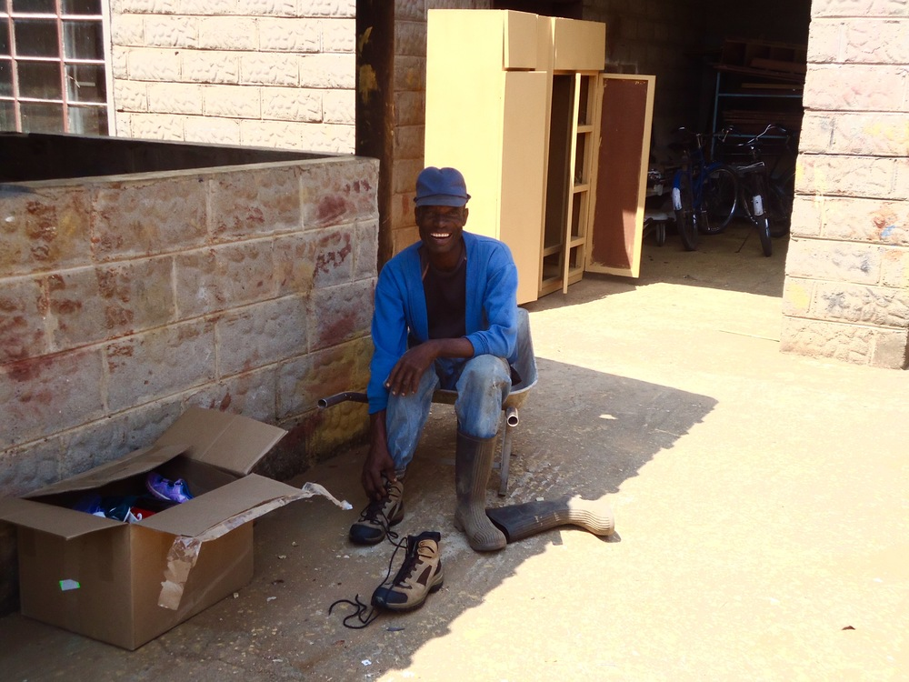 One Step Shoe Recycling assisted in delivering more than 1,000 pairs of shoes to a rural town in Zimbabwe and provided unwanted footwear from workers in Newfoundland and Labrador to the village's hospital workers.