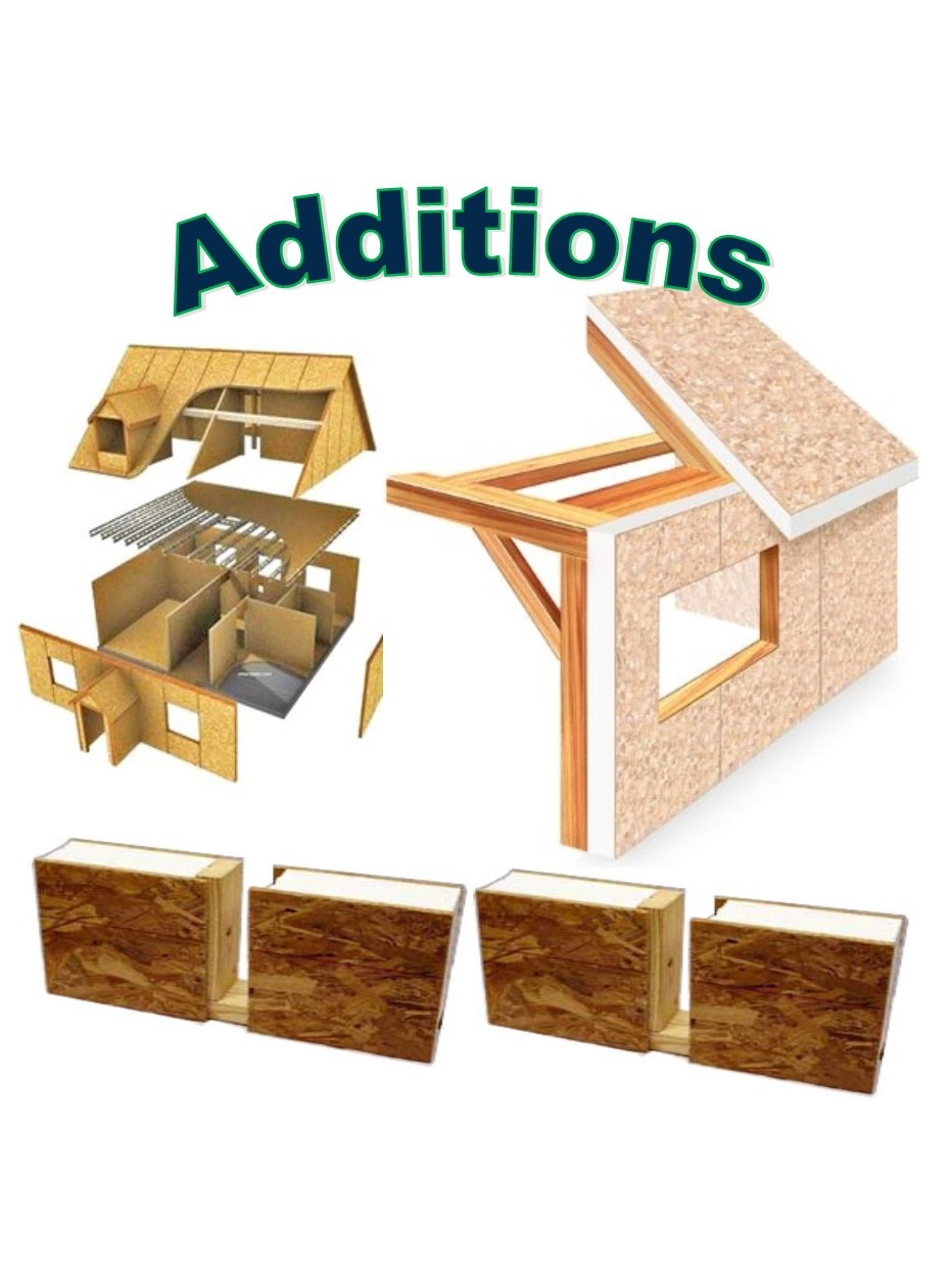 Use Structural Insulated Panels to add additional space to your home!