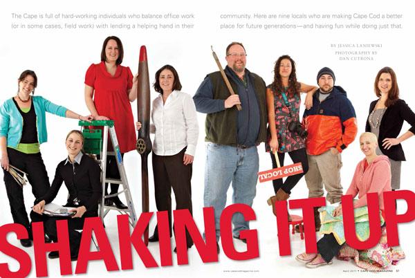 """Shaking It Up"" article :: Cape Cod Magazine, April 2011"