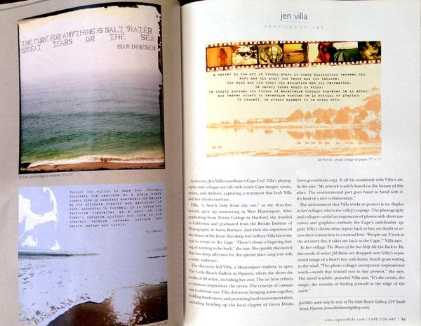 Jen Villa-Artist Profile :: Cape Cod Life Arts Guide, 2011