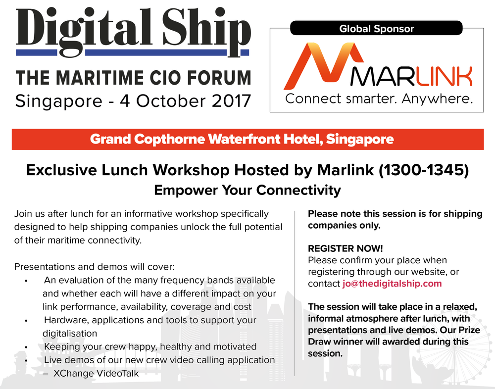 Marlink Lunch Workshop Invitation