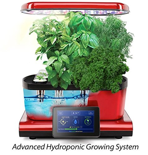 harvest-touch-aerogarden-red-stainless-steel-indoor-garden-with-cherry-tomatoes-kit
