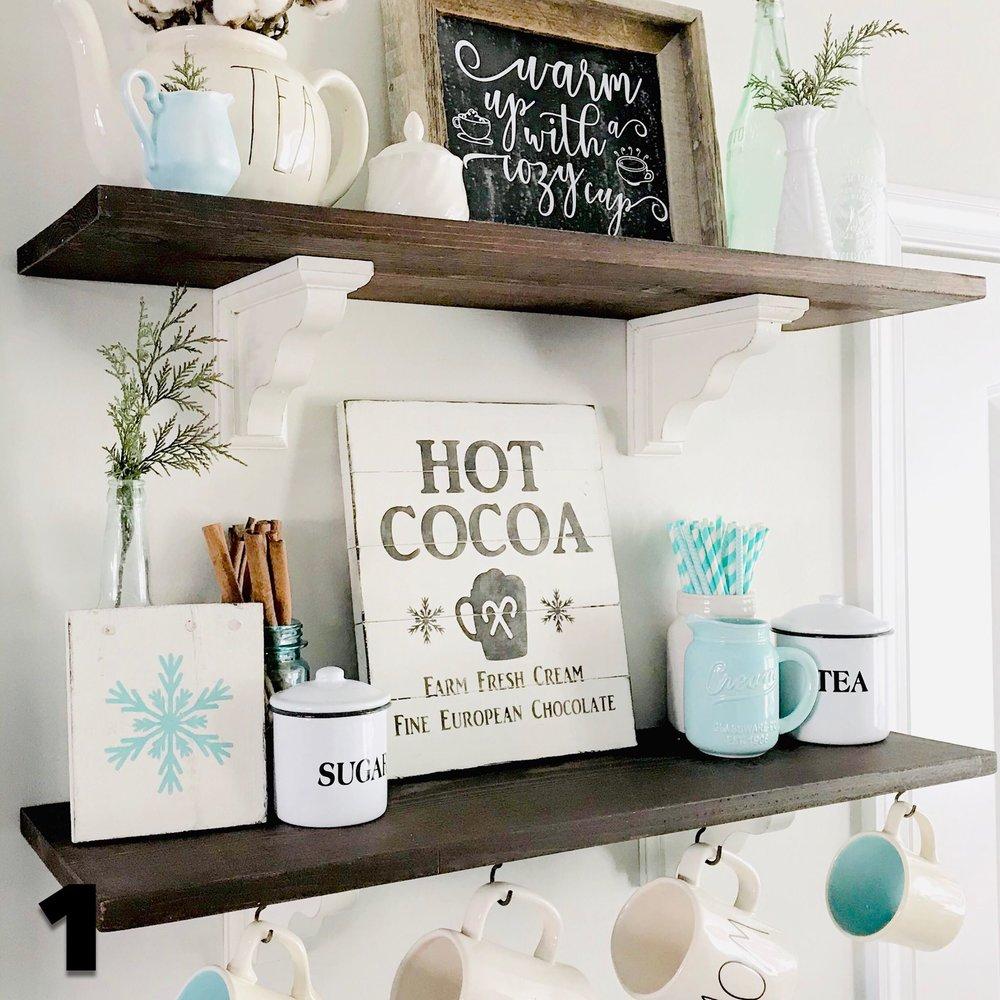 Hot Chocolate bar Shelves