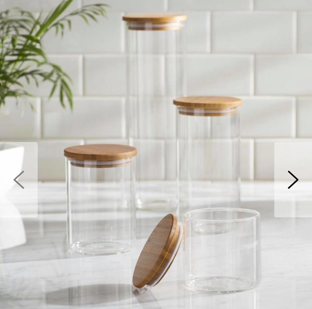 Jars with wood lids