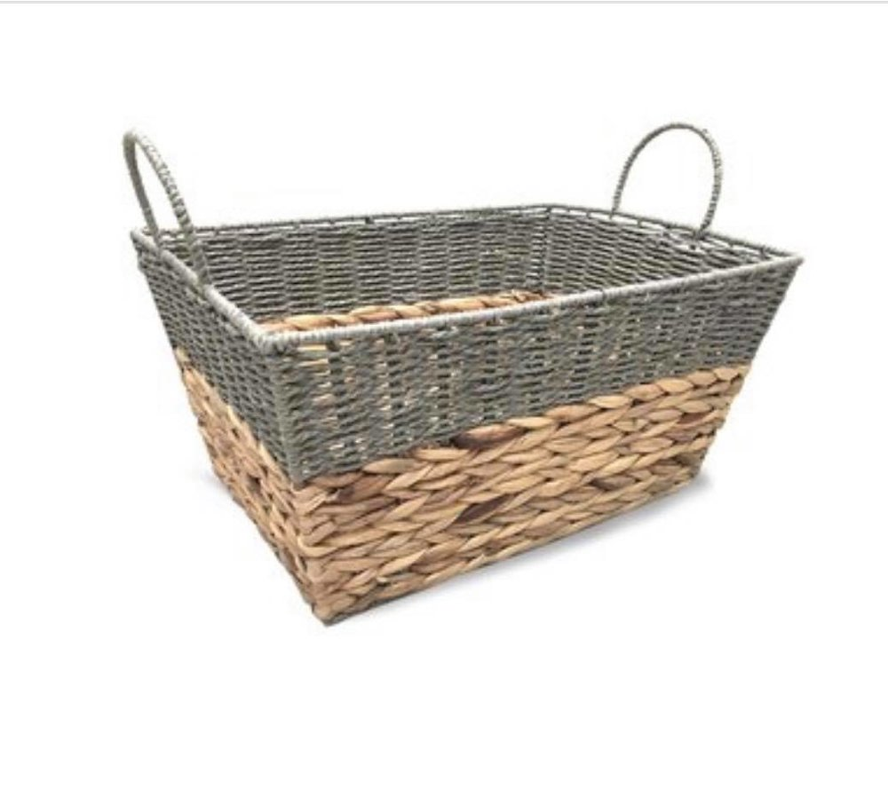Gray and Seagrass basket