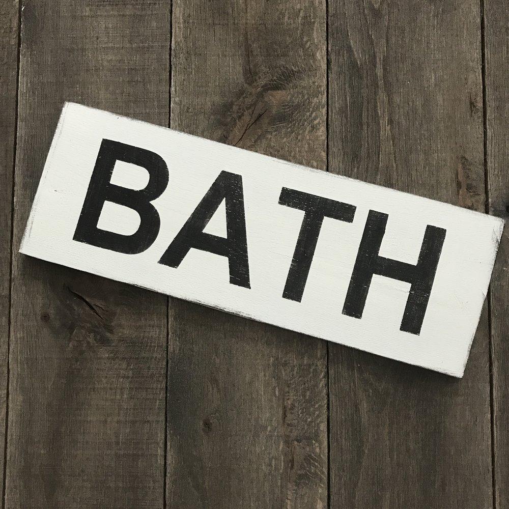 Farmhouse Bath sign