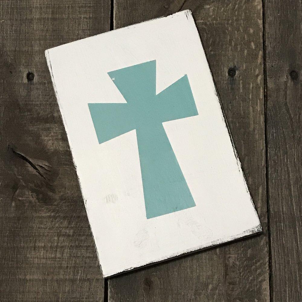 Aqua Cross sign