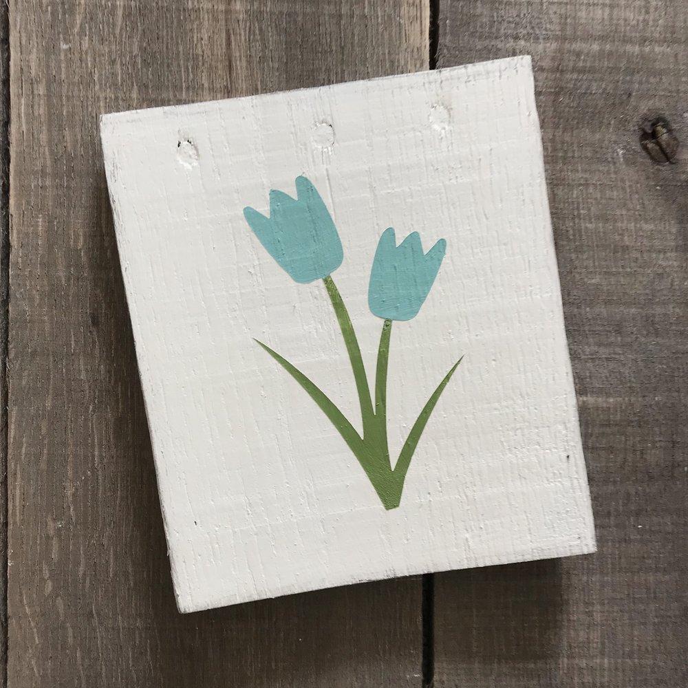 Aqua Tulip sign