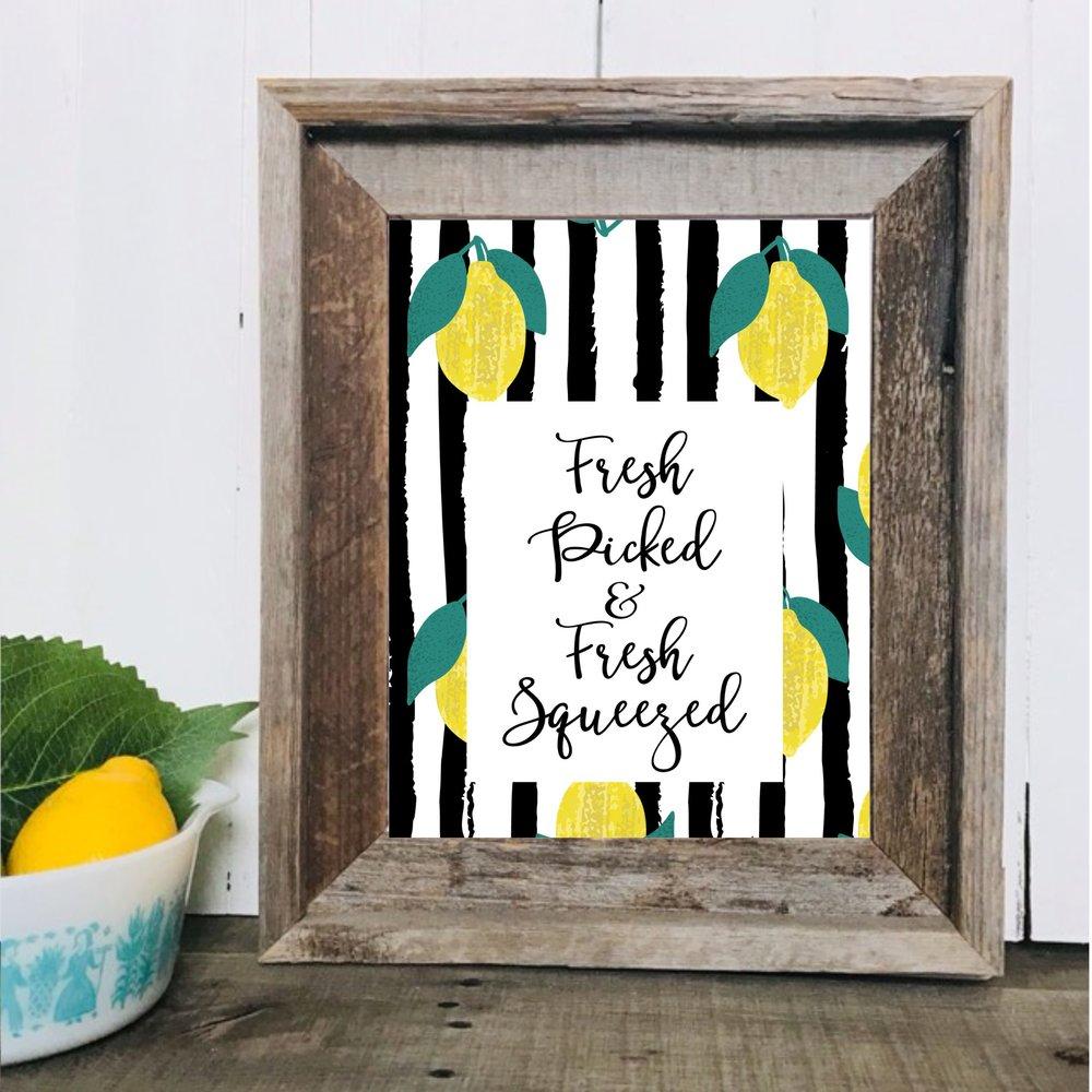 Lemonade Printable