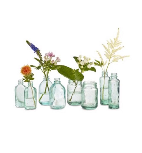 Blue Mason Vases