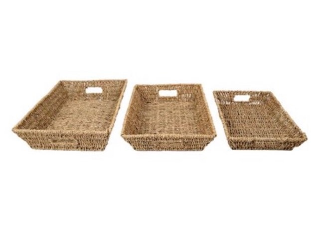 Set of Seagrass trays
