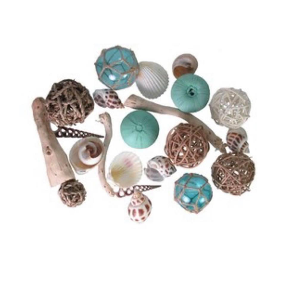 Beach shells, driftwood and other filler