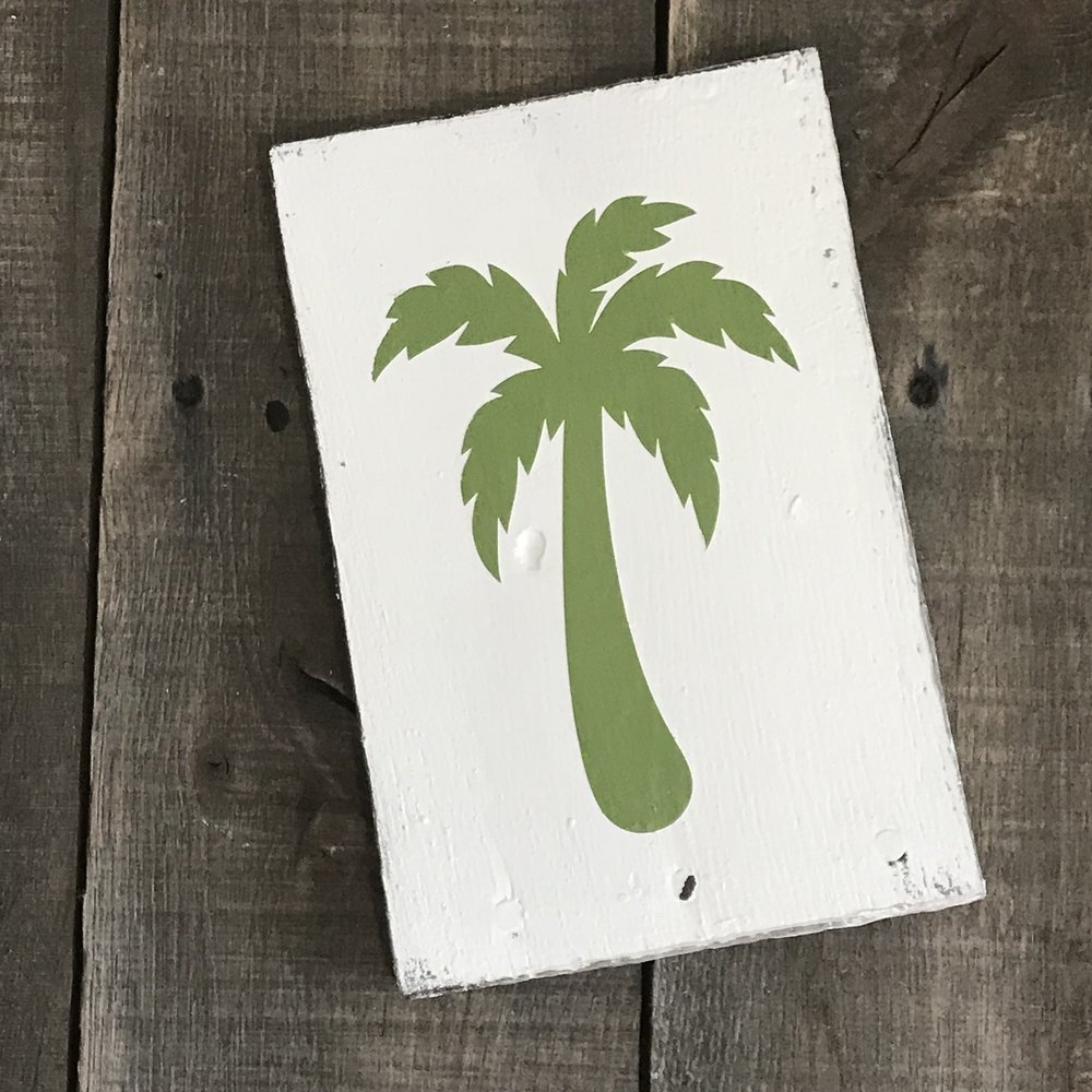 Palm tree sign