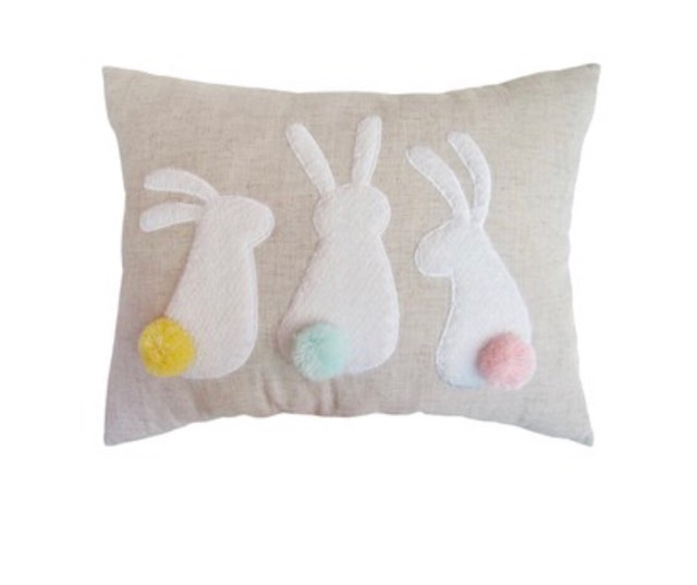 Bunny Tails Kohl's Pillow