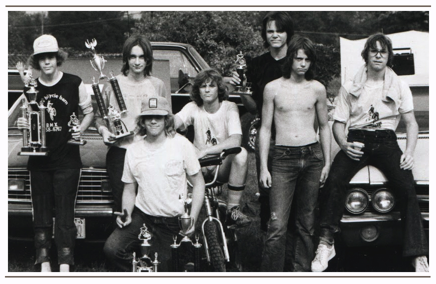 The boys from Nebraska during the 1976 BMX Summer Tour