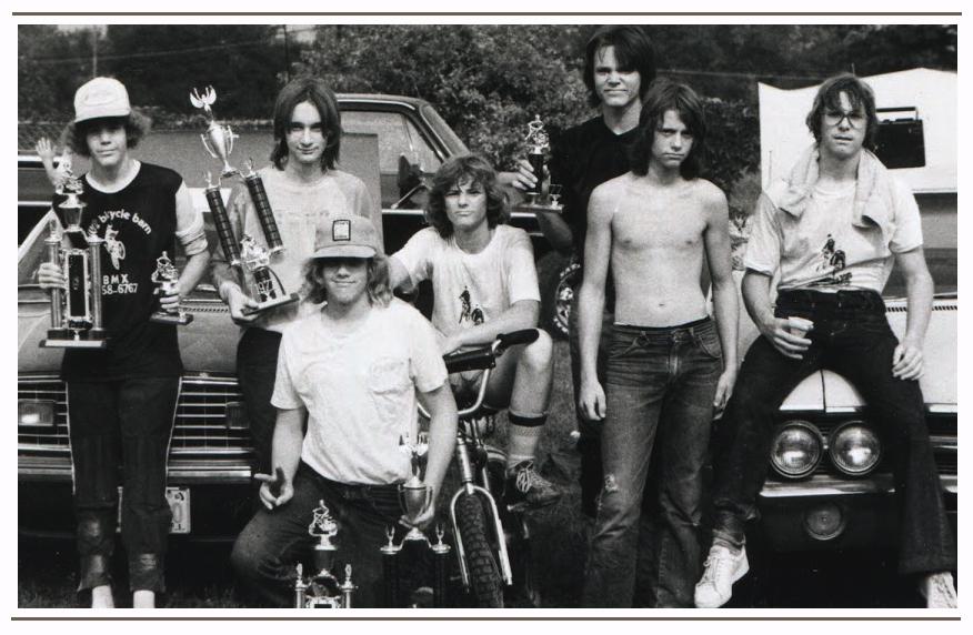 The boys from Nebraska during the 1976 BMX Summer Tour