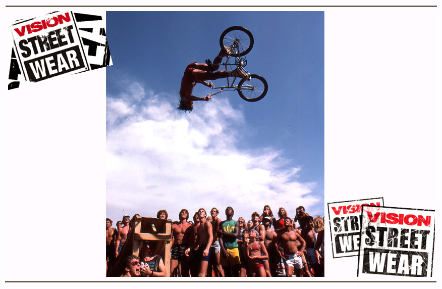 Today this may look familiar, but Brad was the guy who discovered the first ever 360 flip on a bicycle. This photo that he took is the first ever BMX flip!