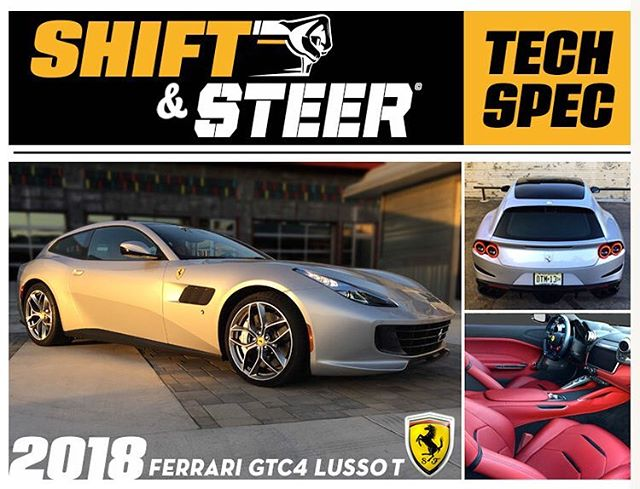 You have heard @bonspeedbrad tell you about the amazing #ferrarigtc4lussot and it's #twinturbo drivetrain. Now visit our website and see the entire phot gallery. https://goo.gl/eCwAZd #ferrari #luxuryperformance #fast #carbonfiber #roadtest #automobile #techspec #italiancars #shiftandsteer #podcast #automotive