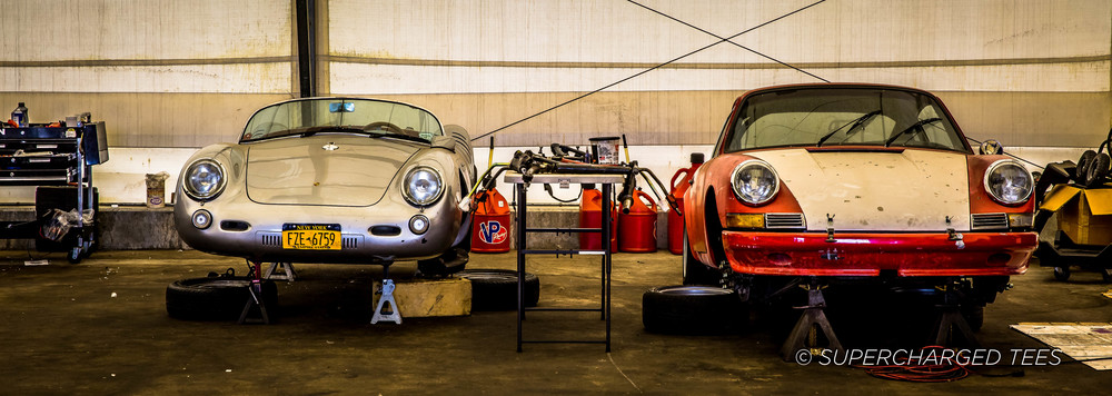 Two Porsche's sat waiting for their big day.
