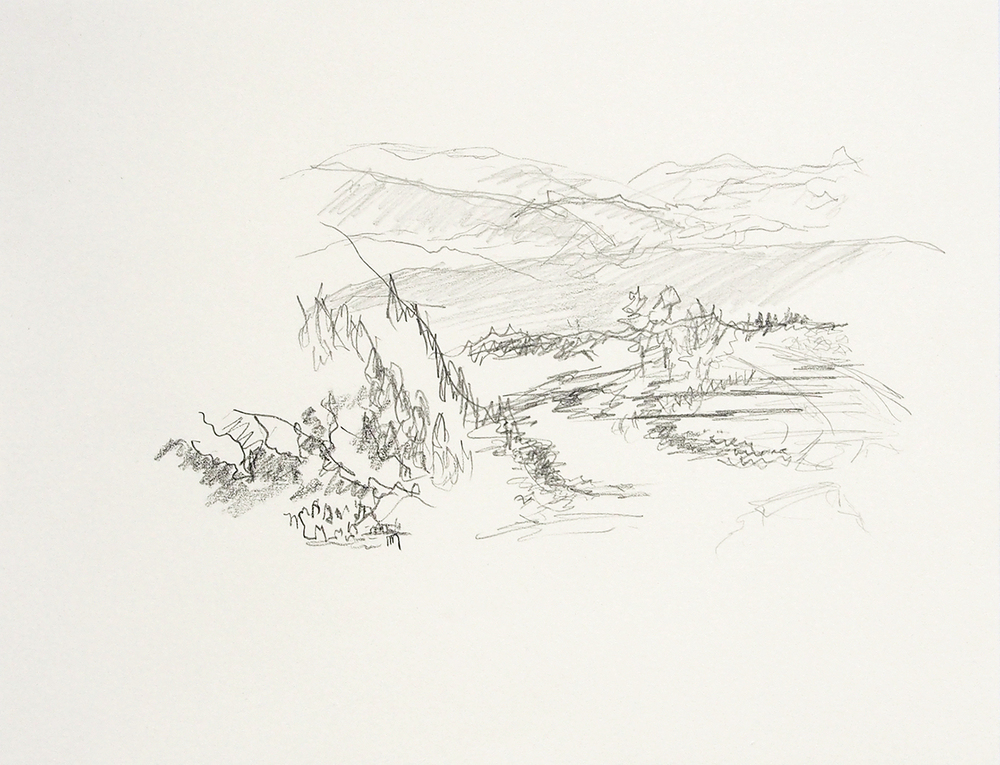 Hokuriku 2   graphite on paper  2016