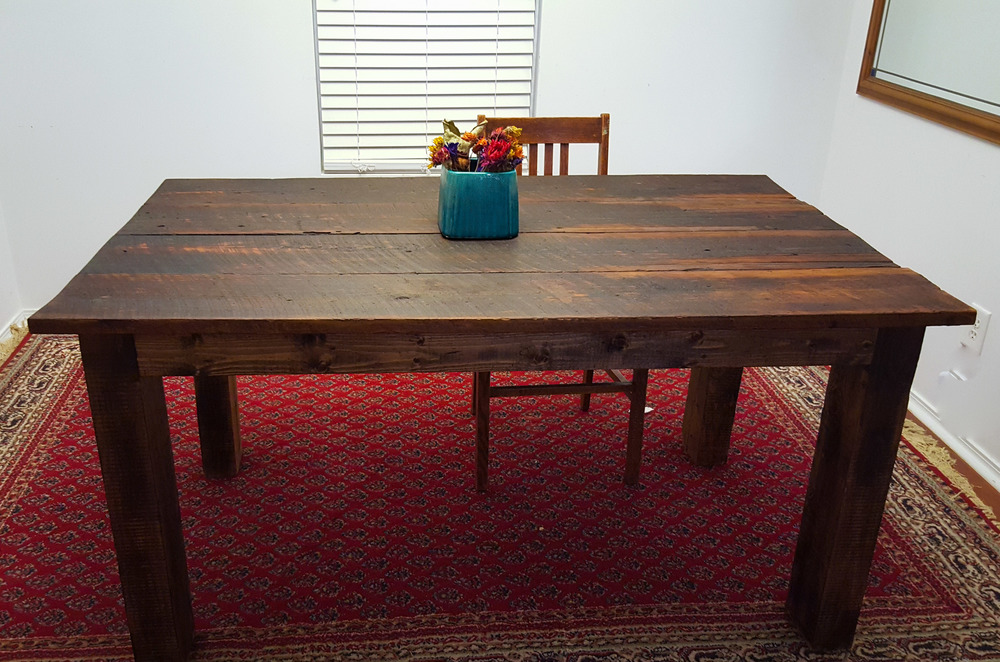 Noah Table (Burnt Table With Copper Pieces)