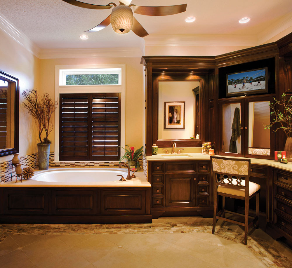transitional bathroom remodel — del mar designs