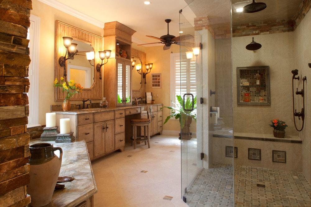 French Rustic Bathroom