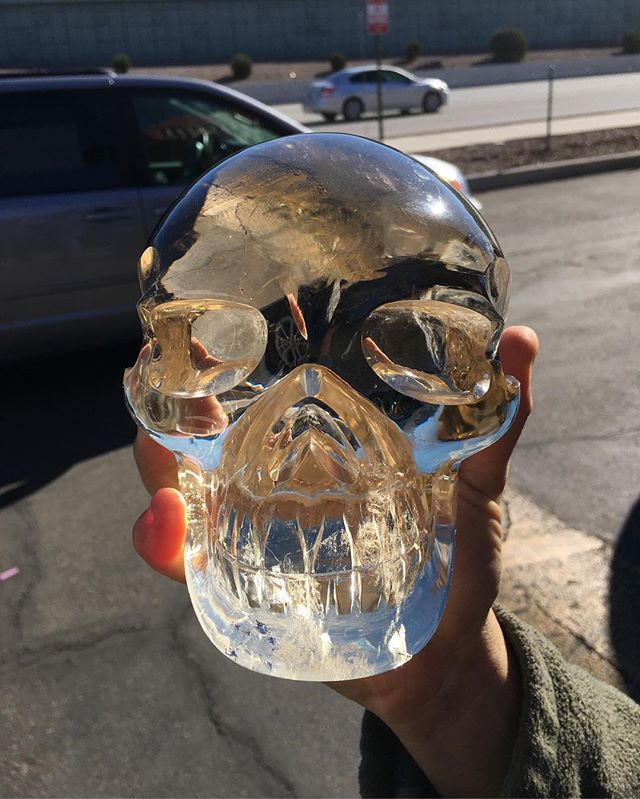 Citrine Quartz Skull! #sold  #citrine #quartz #sfv #color #black #instadaily #losangeles #white #follow4follow #fashion #sunrise #iphone #insta #nature #followme #goodnight #instagood #foodporn #instagram #thursday #travel #food #life #day #crystals #spiritual #cars
