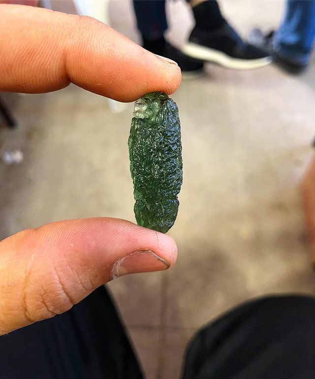 Moldavite, Meteorite Glass 👽👽👽#moldavite #meteorite #green #color #white #instadaily #losangeles #black #follow4follow #fashion #sunrise #iphone #insta #nature #followme #goodmorning #instagood #foodporn #instagram #tuesday  #travel #food #life #day #crystals #spiritual #cars
