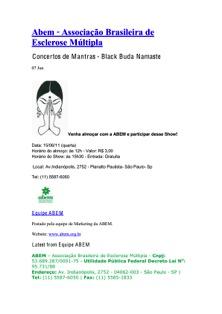 15/06/11 – Associação Brasileira de Esclerose Múltipla – São Paulo, SP