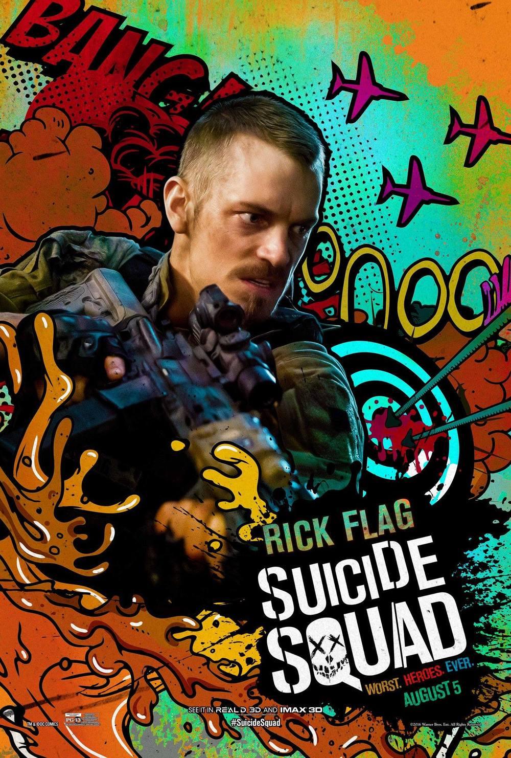 Rick Flagg Suicide Squad Joel Kinnaman
