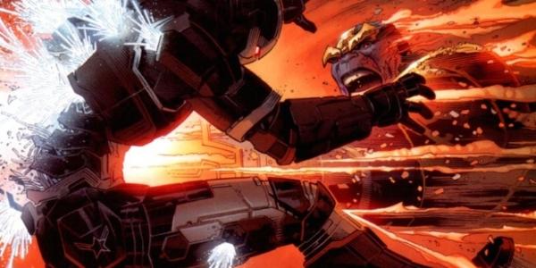 Thanos destroys the War Machine