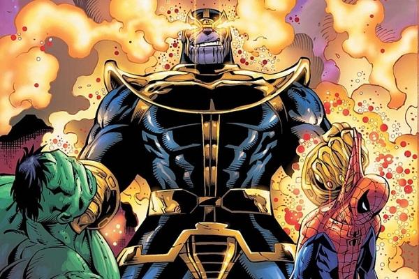 Thanos defeats Hulk and Spidey