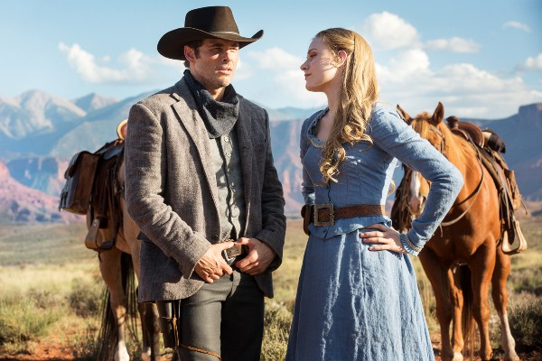 James Marsden and Evan Rachel Wood in Westworld on HBO