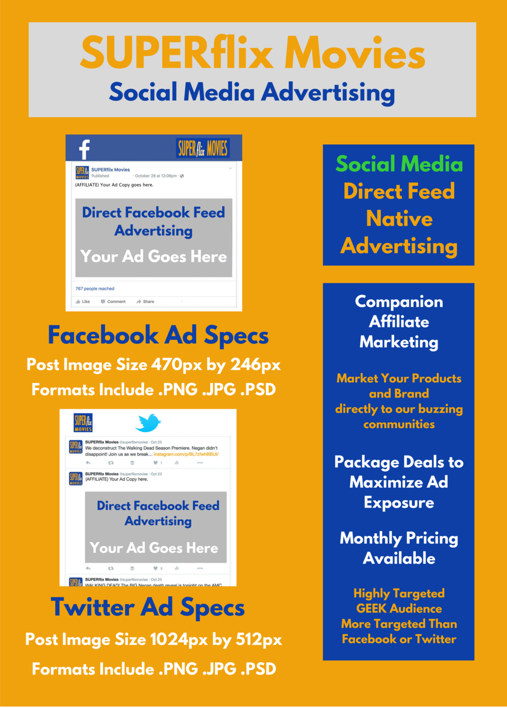 Click the image to view the Social Media Ad Style Sheet