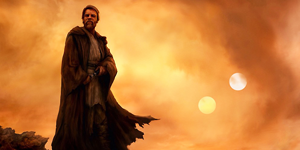 Obi Wan Kenobi art image of the Jedi on Tattoine after Episode III