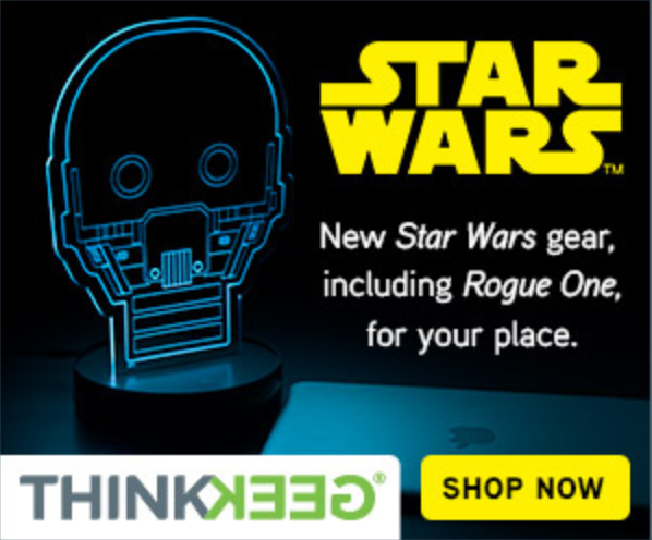New Star Wars gear from THINKGEEK Ad Click Now to Shop