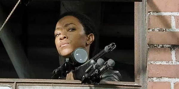Sasha Ready for War on The Walking Dead