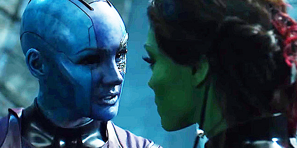 Guardians of the Galaxy Sisters Gamora and Nebula