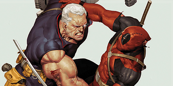Cable fights Deadpool in the comics