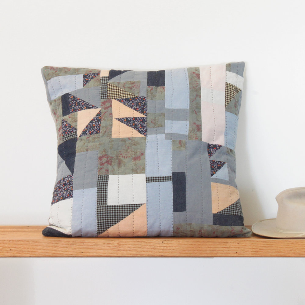 Rowena Hand Quilted Pillow