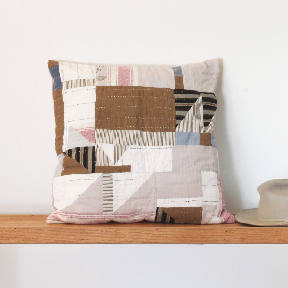Sunset Hand Quilted Pillow
