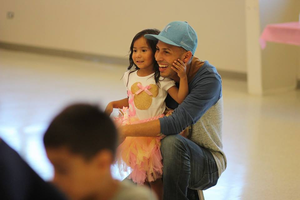 "Daddy ""Coach Speedy"" with his eldest daughter"