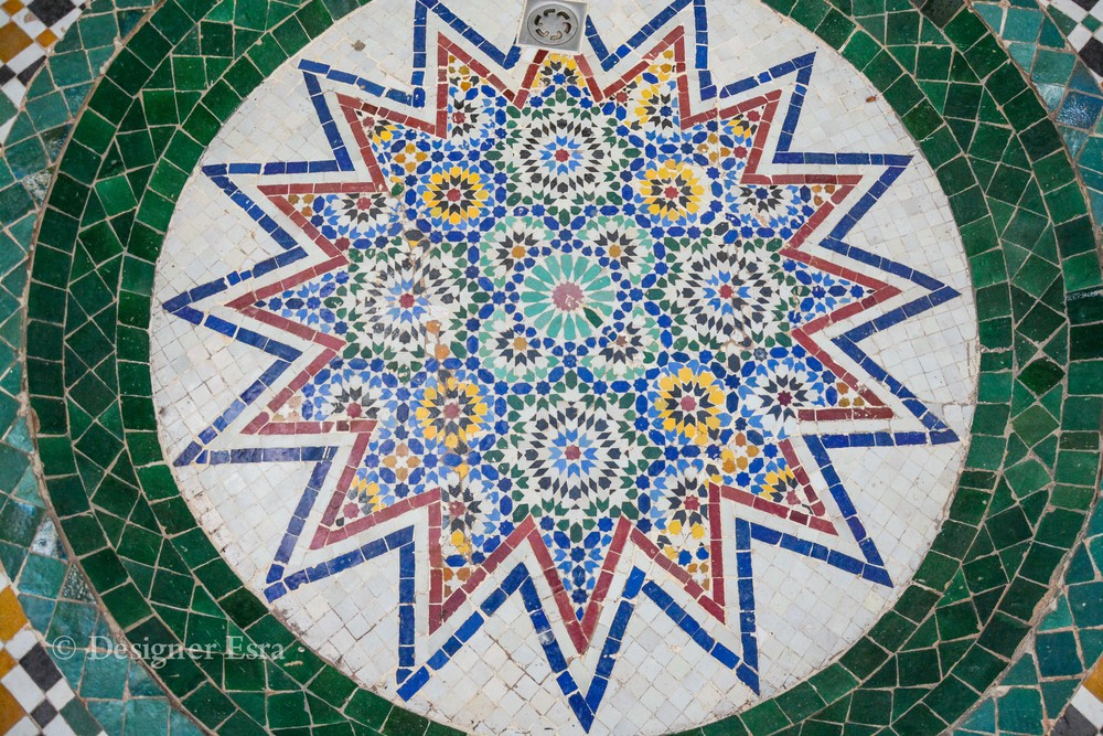 Islamic Geometric pattern on the floor