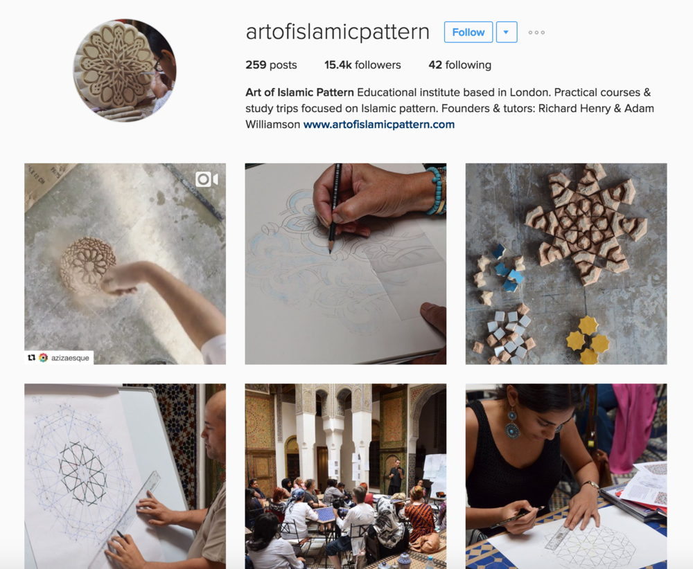 https://www.instagram.com/artofislamicpattern/