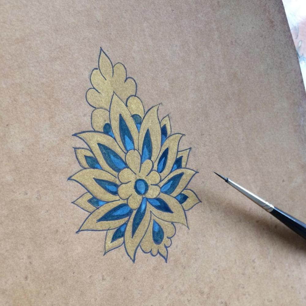 Art of Islamic Illumination تذهيب الورد