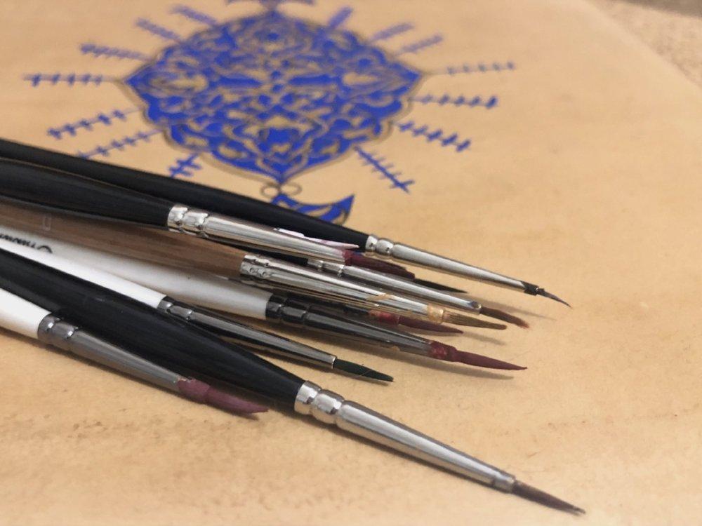 Best Brushes for Islamic illumination