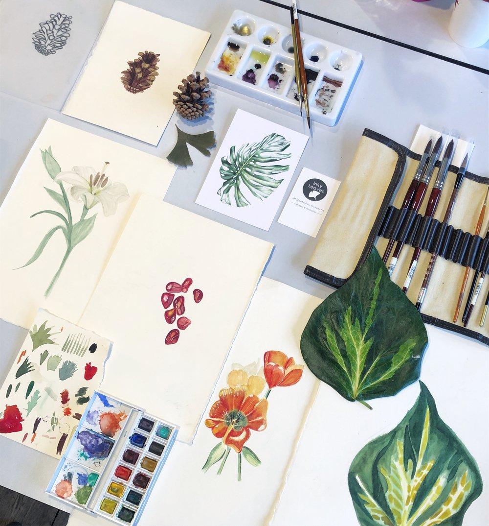 Botanical illustration in London