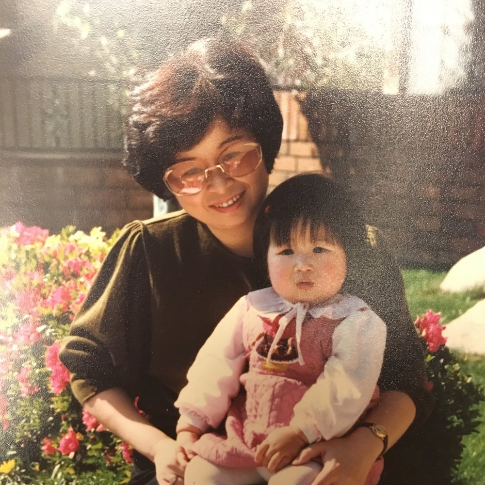 Grandma, when she was 47, and 1-year-old Tricia. (Photo taken in 1987)
