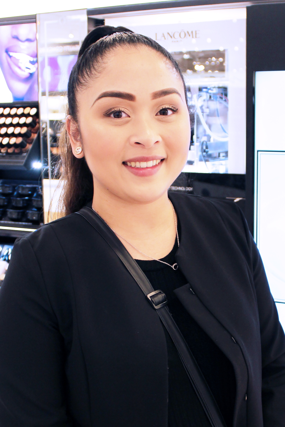 Miko Del Rosario, the Lancôme beauty advisor who made my custom foundation.